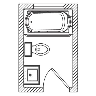 5 x 8 Bathroom Floor Plan